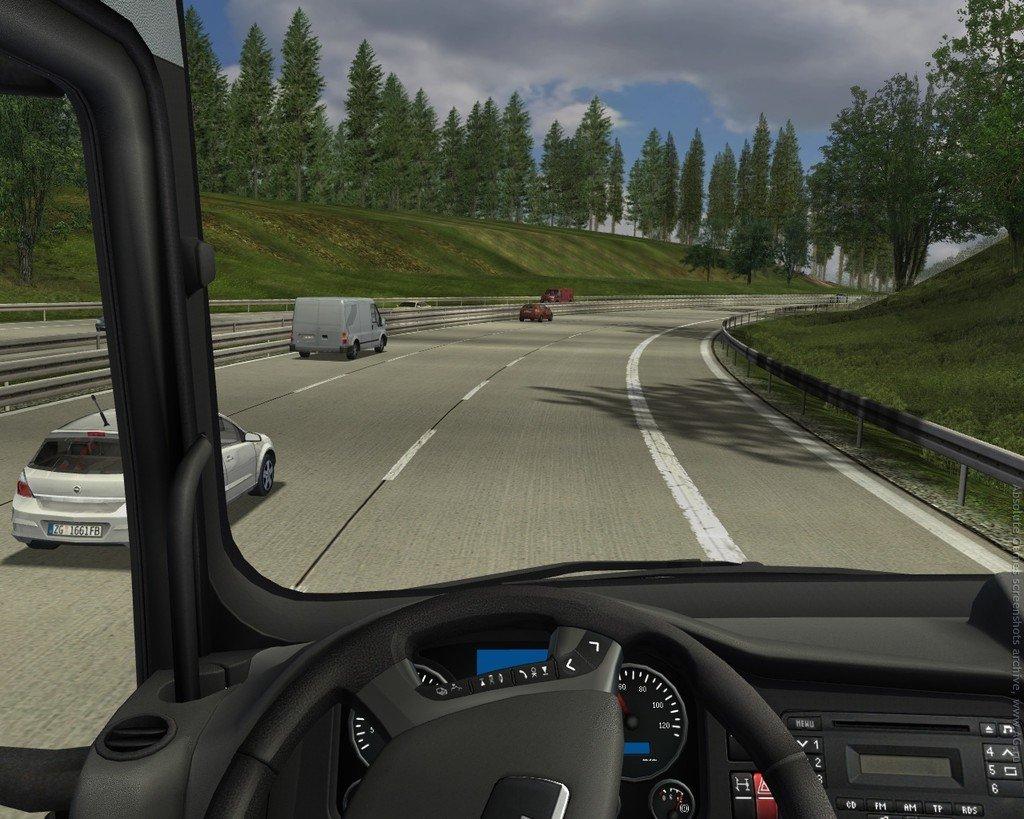 German Truck Simulator (2010)Это красивая и потрясающе детализированная игра, посвященная нелегкому, но жизненно необходимому ремеслу дальнобойщика. Начав свою карьеру с простого водителя, зарабатывайте деньги, чтобы приобрести собственный грузовик. Затем второй, третий, четвертый. Нанимайте водителей и покупайте гаражи по всему миру, чтобы построить полноценную империю. Немного упорства и несколько тысяч намотанных километров - и вы добьетесь своей цели. В вашем распоряжении вся карта мира. В игре присутствуют оригинальные лицензированные тягачи MAN, переведенные в цифровой вид с максимальной точностью и бережным отношением к малейшим деталям. Комплексный режим карьеры, более 60 различных грузов и усовершенствованная экономическая система не дадут вам заскучать!