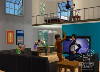 Симс 2 Переезд в квартиру